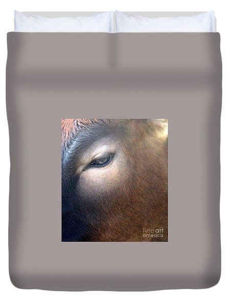 Duvet Cover featuring the photograph Sacred Cow 5 by Randall Weidner