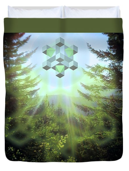 Sacred Forest Event Duvet Cover