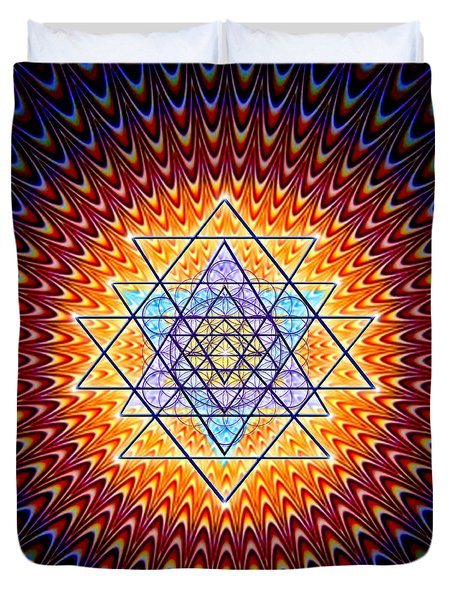 Sacred Geometry 141 Duvet Cover