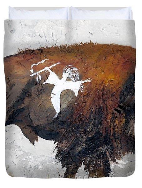 Sacred Gift Duvet Cover by J W Baker