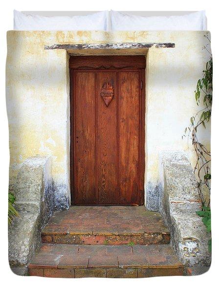 Sacred Heart Door Duvet Cover