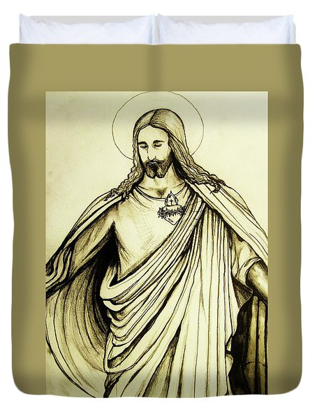 Sacred Heart Duvet Cover