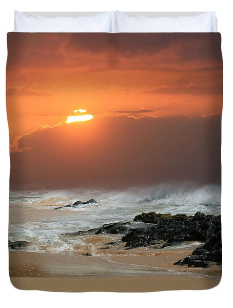 Sacred Journeys Song Of The Sea Duvet Cover by Sharon Mau
