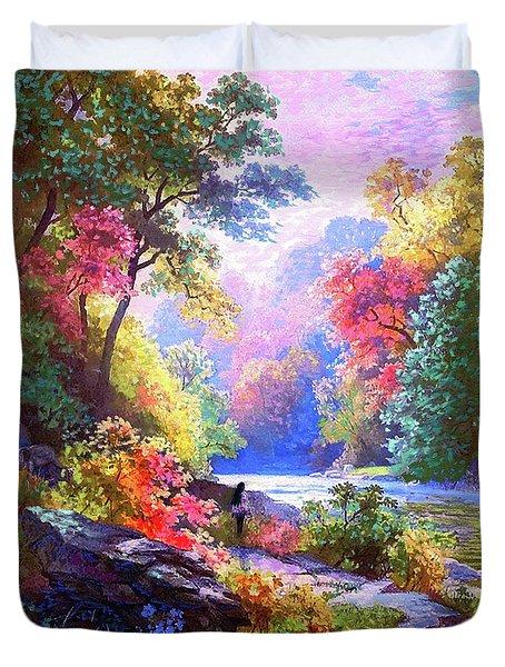 Sacred Landscape Meditation Duvet Cover