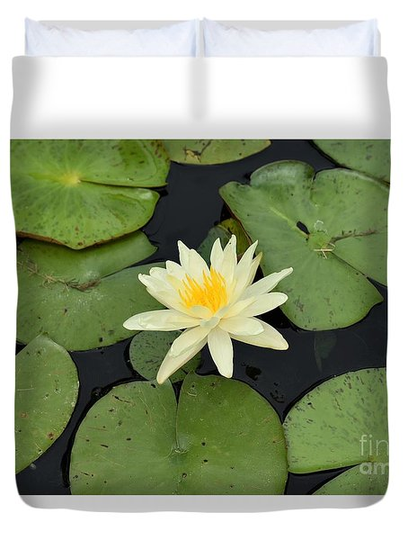 Sacred Lotus Duvet Cover