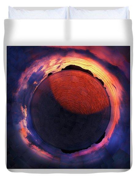 Sacred Planet - Sunset - New Zealand Duvet Cover
