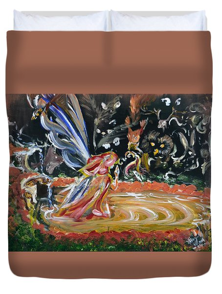 Sacred Pool 2 Duvet Cover