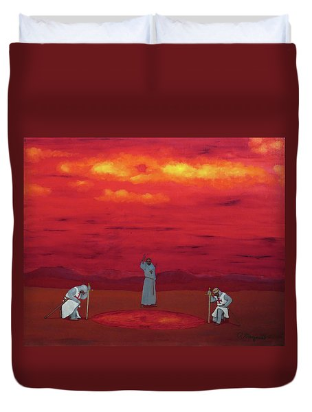 Sacred Pool Duvet Cover by Robert Marquiss