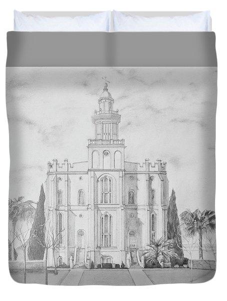 Sacred Steps - St. George Temple Duvet Cover