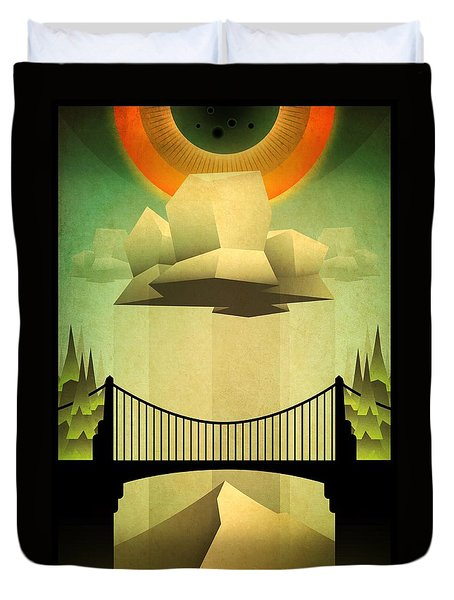 Sacred Sun Shower Duvet Cover by Milton Thompson