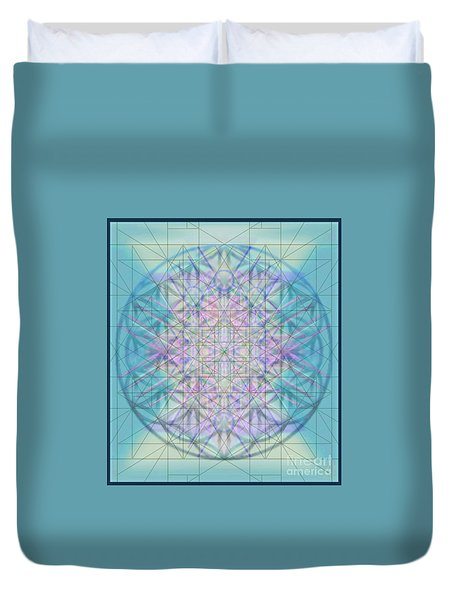 Duvet Cover featuring the digital art Sacred Symbols Out Of The Void 4b by Christopher Pringer