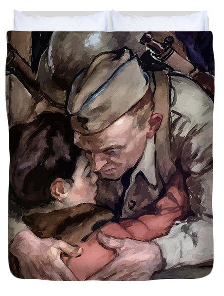 Sacrifice - The Privilege Of Free Men Duvet Cover