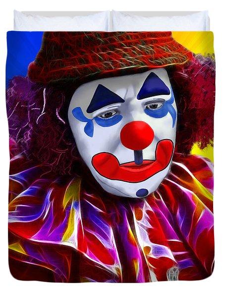 Sad Clown Duvet Cover