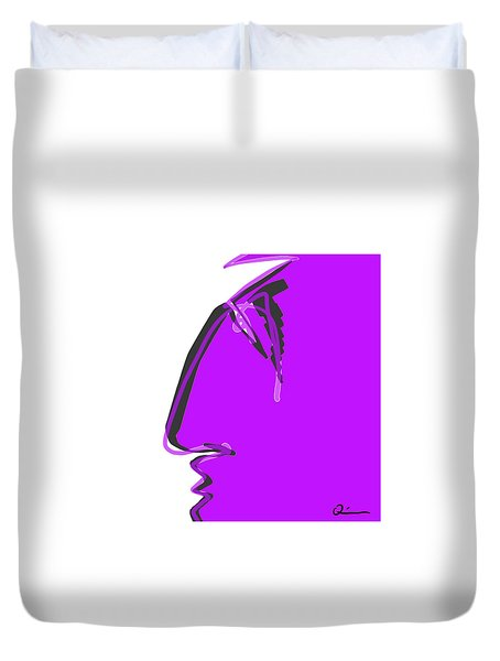 Sad Grape Duvet Cover