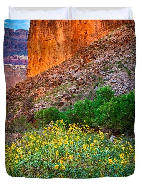 Saddle Canyon Flowers Duvet Cover