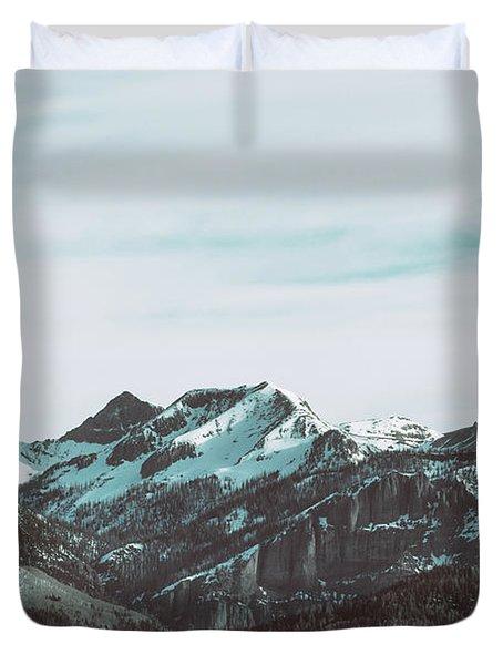 Saddle Mountain Morning Duvet Cover