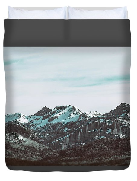 Saddle Mountain Morning Duvet Cover
