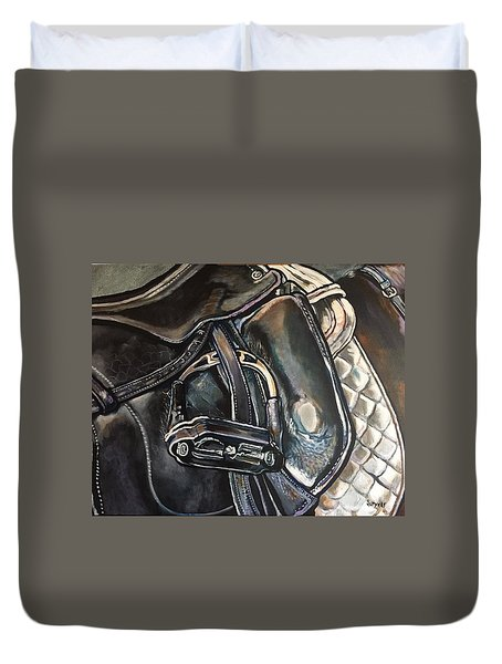 Saddle Study Duvet Cover