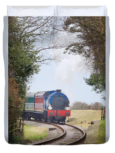 Saddle-tank Steam Locomotive Duvet Cover