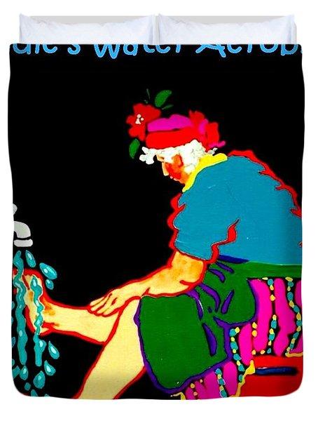Sadie's Water Aerobics  Duvet Cover