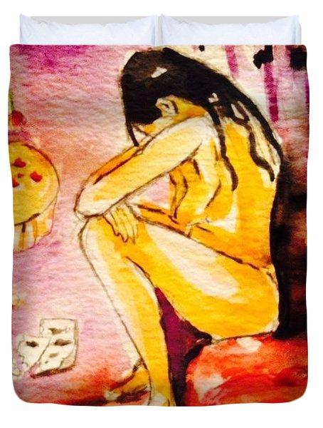 Sadness  Duvet Cover