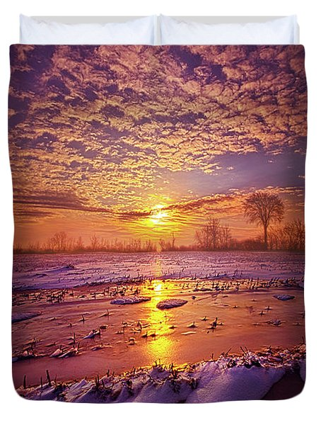 Duvet Cover featuring the photograph Safely Secluded In A Far Away Land by Phil Koch