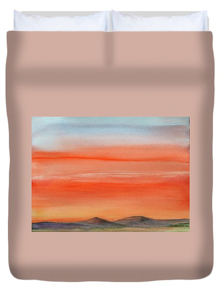 Saffron On The Mountains Duvet Cover