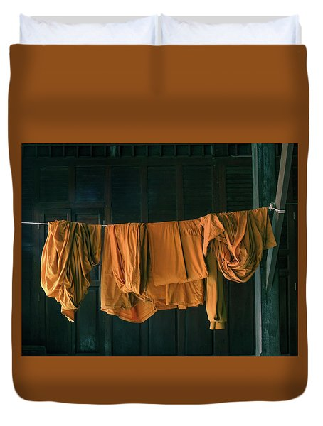 Saffron Robes Duvet Cover