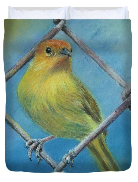 Safron Finch Duvet Cover by Ceci Watson