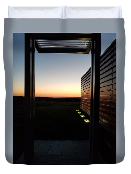 Duvet Cover featuring the photograph Sag Harbor Sunset 2 by Rob Hans