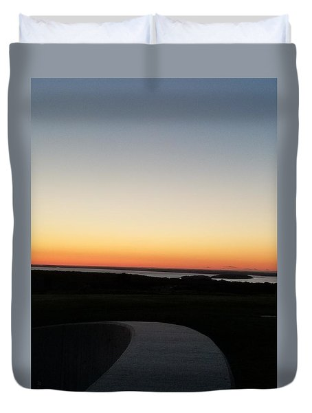 Duvet Cover featuring the photograph Sag Harbor Sunset 3 by Rob Hans