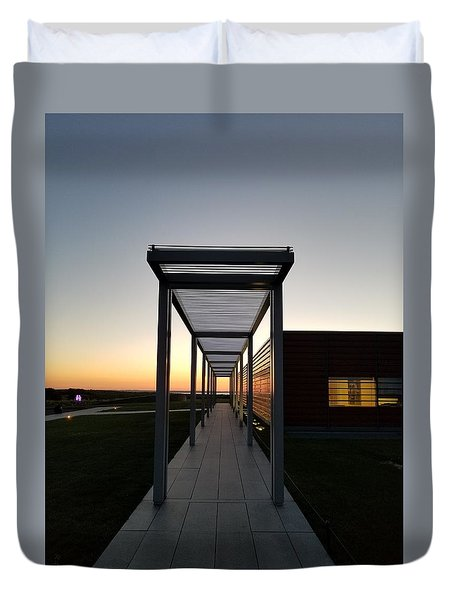 Duvet Cover featuring the photograph Sag Harbor Sunset by Rob Hans