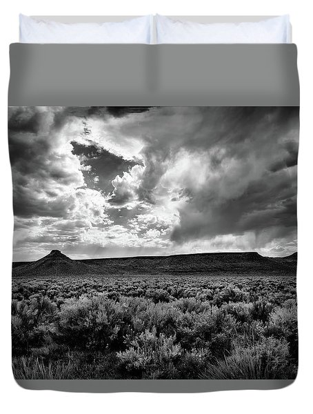 Sage And Clouds Duvet Cover