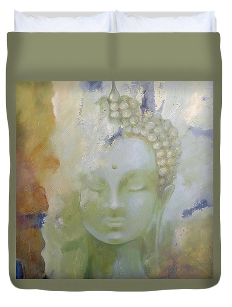 Duvet Cover featuring the painting Sage Buddha by Dina Dargo