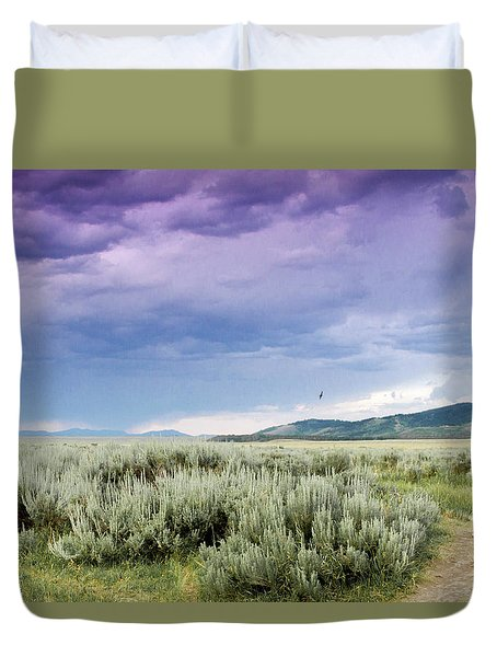 Sage Fields  Duvet Cover