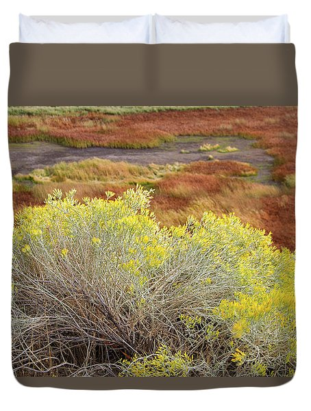 Sagebrush In The Malheur National Wildlife Refuge Duvet Cover