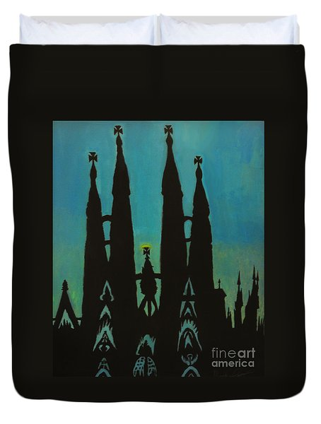 Sagrada Shadows Duvet Cover