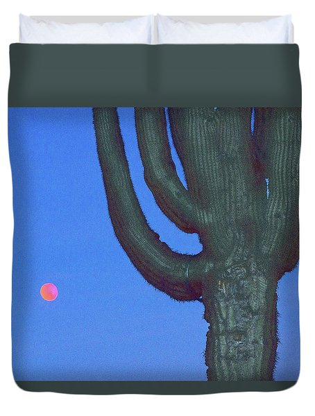 Saguaro And Eclipse IIi Duvet Cover