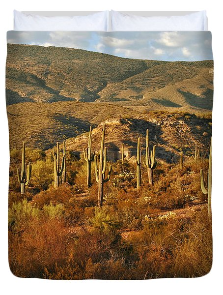 Saguaro Cactus - A Very Unusual Looking Tree Of The Desert Duvet Cover by Christine Till