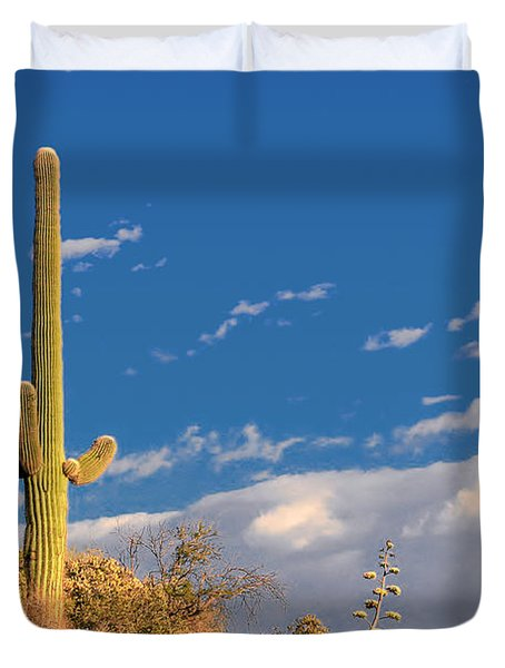 Saguaro Cactus - Symbol Of The American West Duvet Cover by Christine Till