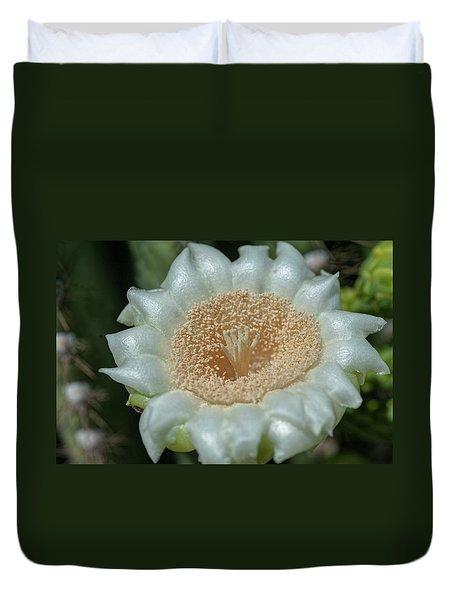 Duvet Cover featuring the photograph Saguaro Cactus Flower by Dan McManus