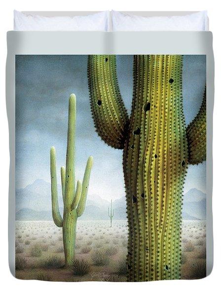 Saguaro Cactus Landscape Duvet Cover