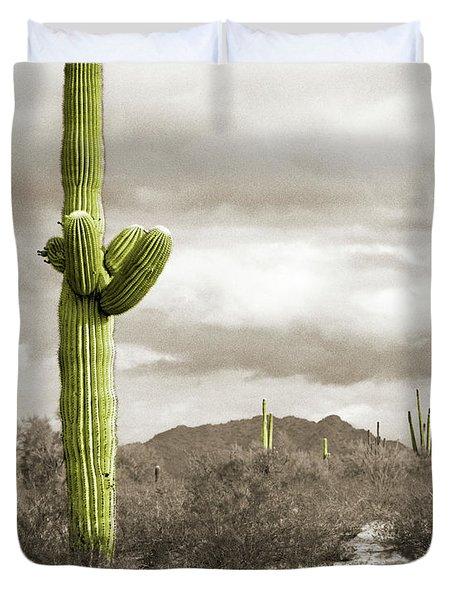 Saguaro Cactus Duvet Cover