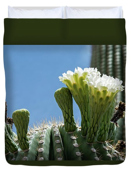 Saguaro Flowers Duvet Cover