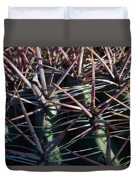 Duvet Cover featuring the photograph Saguaro Grid by Carolina Liechtenstein