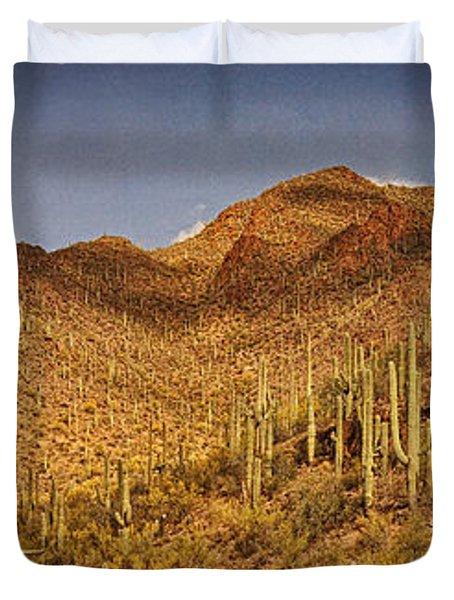 Saguaro Hillsides Text Duvet Cover