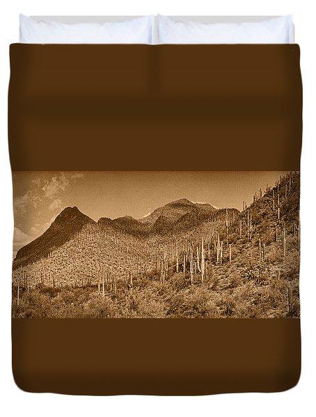 Saguaro Hillsides Tint  Duvet Cover