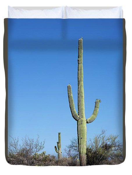 Duvet Cover featuring the photograph Saguaro National Park Arizona by Steven Frame