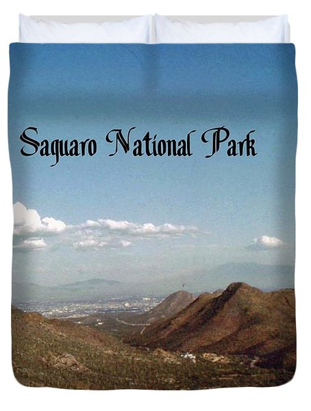 Duvet Cover featuring the photograph Saguaro National Park by Gary Wonning