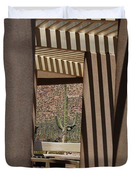 Saguaro National Park Duvet Cover by Lois Bryan